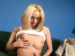 Slim hot blonde must grope her sexy tits tubes