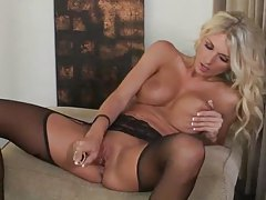 Alicia Tyler with toy in the cunt tubes