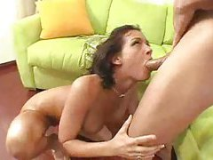 Tory Lane performs orally on her man tubes