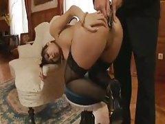 Speculum cranks her hot ass open tubes