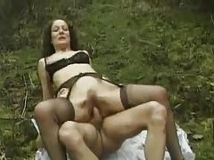 Butt fucking a bitch in the middle of the woods tubes