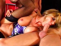 Anna Nova latex gangbang tubes
