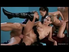Two flawless women give it up in foursome tubes