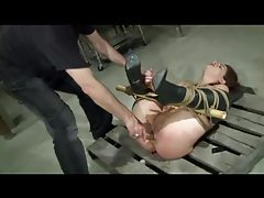 Bound Caned And Toyed tube