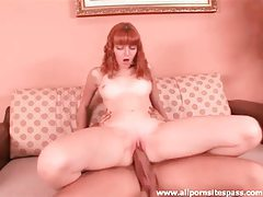 Redhead Marie McCray blowjob and hardcore tubes