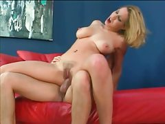 Hairy trimmed pussy girl sits on a dick tubes