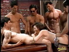 Running a train on this gangbang whore tubes
