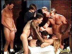Big cocks gangbang a bitch on her back tubes