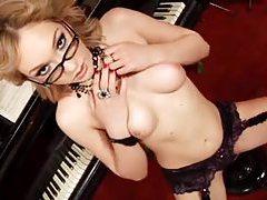 Lily LaBeau solo lingerie tease tubes