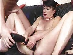 Granny fucked in her hot hairy cunt tubes