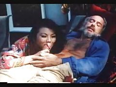 Retro porn with old dude doing oral with Asian tubes