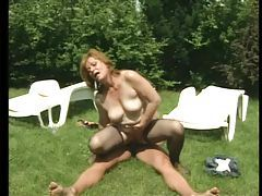 Hairy mature in stockings fucked outdoors tubes