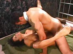 Asia Carrera and dude fuck in a cage tubes