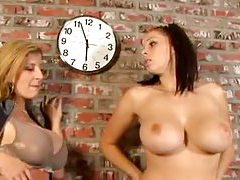Gianna Michaels and Sara Jay lesbian play tubes