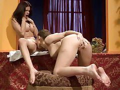 Toe sucking lesbians are hot tubes