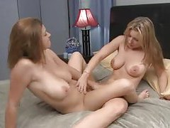 Busty lesbian babes do it all in their scene tubes