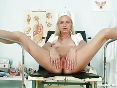 Legs open so you can see hairy mature pussy tubes