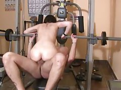Fun fuck slut banged hard in gym tubes