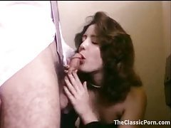 Retro porn in bathroom with cute chick tubes