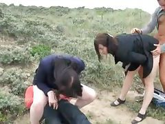Foursome outdoors with sexy schoolgirls tubes