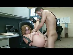 Office fuck with big ass babe in glasses tubes