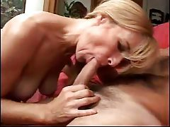 Horny blonde milf gets pussy licked then drilled tubes