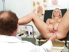 Fingering her ass and toy fucking her pussy tubes