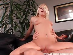 Knob gobbling blonde screwed in the vagina tubes