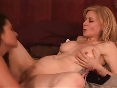 Nina Hartley strapon fucks a curvy girl tubes
