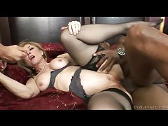 Nina Hartley sex with two big cocks tubes