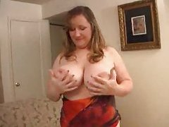 Fatty with huge tits solo tease tubes