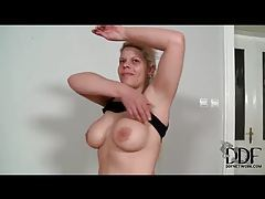 Curvy solo amateur with a nice set of tits tubes