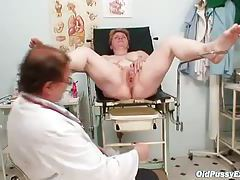 Chubby mature gets looked at by her doctor tubes