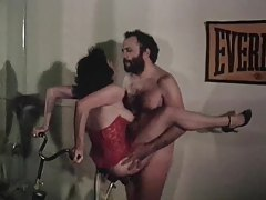 Retro milf in sexy corset rides her lovers cock tubes