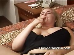 Fat blonde with big tits sucks cock tubes