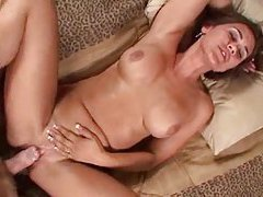 Busty brunette milf enjoys some steamy foreplay tubes
