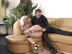 She gags on his big cock tubes