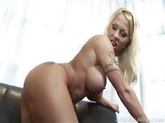 Rediculously busty blonde lesbian pleasures her girlfriend tubes