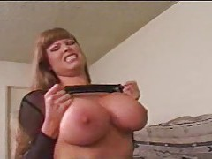 Old mom with huge jugs enjoys riding thick dick tubes
