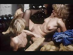 Two naughty ladies enjoy giving their lover a threesome tubes