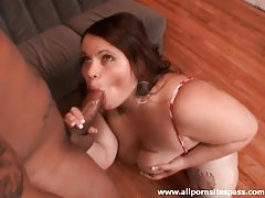 Fat chick polishes the knob of a black guy tubes