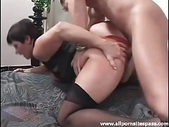 Mature slut in lace panties fucked from behind tubes