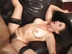 Busty mature with hairy muff rides fat cock tubes