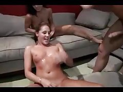 Aggressive anal in sweaty threesome tubes