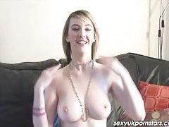 British next-door girl Katie K dildos her sweet pussy tubes