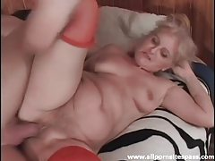 Sexy stockings on a hot mature fuck slut tubes