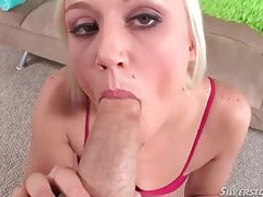 Cute tease in panties sucks a dick in POV tubes