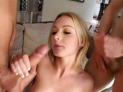 Young blonde big cock double penetration sex tubes