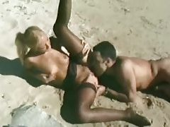 Slut in stockings ass fucked on a beach tubes