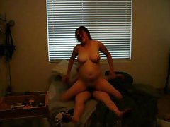 All natural curvy girlfriend rides dick tubes